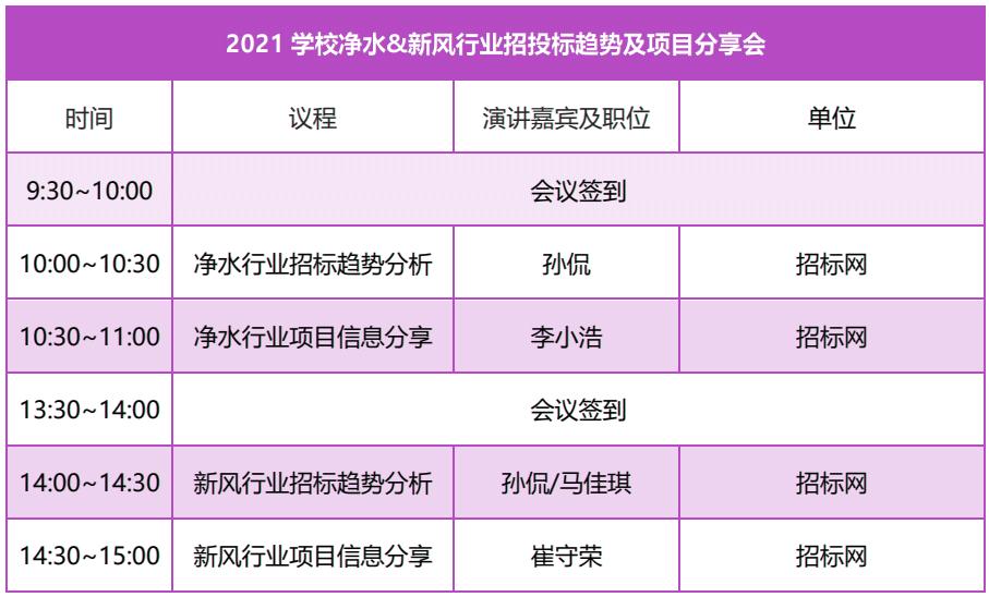 2021学校净水&新风行业招投标趋势及项目分享会-_上海舒适系统展