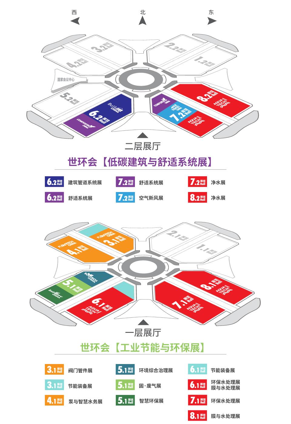 展馆分布-_上海舒适系统展